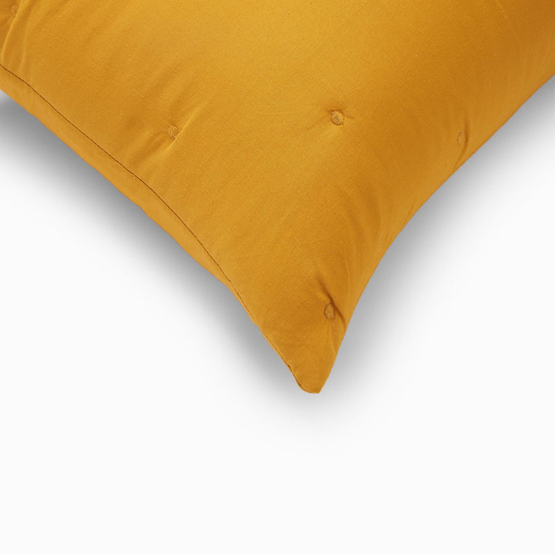 Mustard Embroidered Pillow Cases