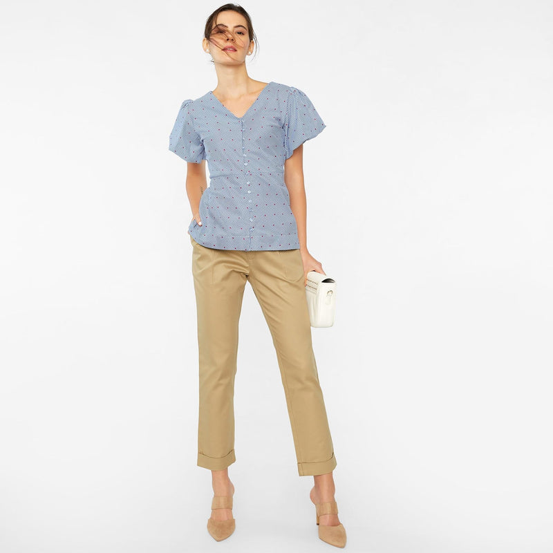 Khaki Tapered Pants