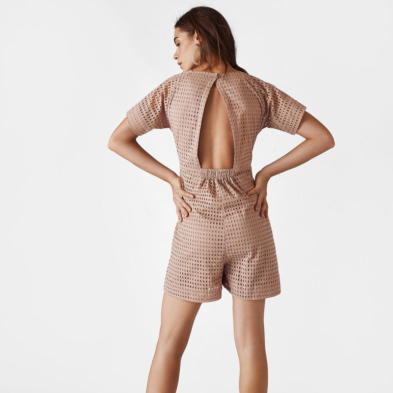 Nutmeg Schiffli Cut Out Playsuit