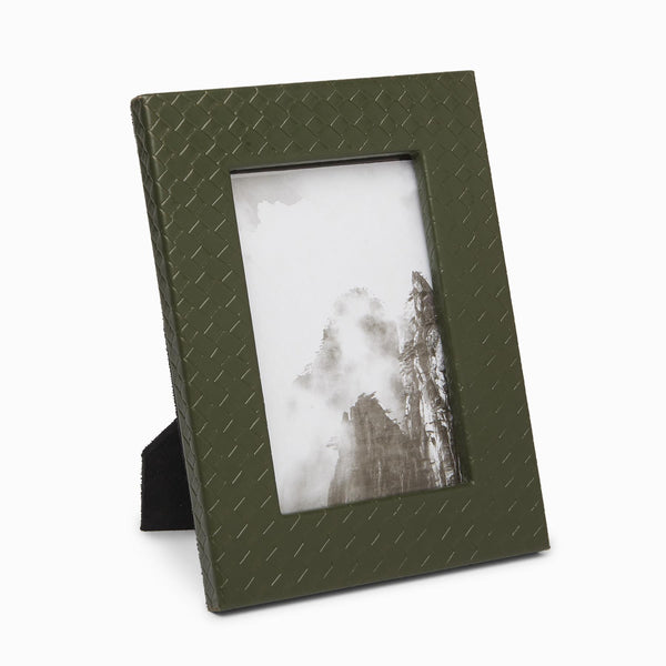 Olive Textured Photo Frame Small