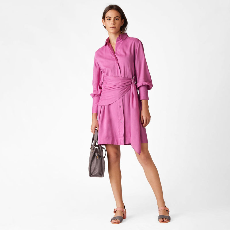 Orchid D Buckle Belted Dress