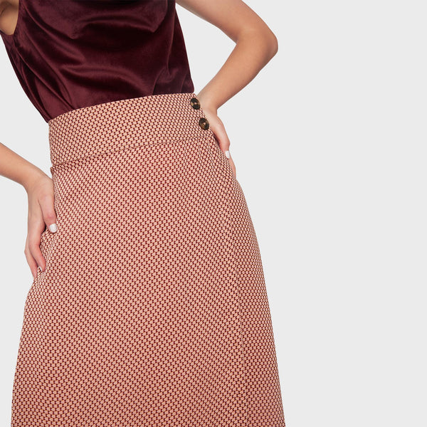 Rose Geo Wrap Skirt