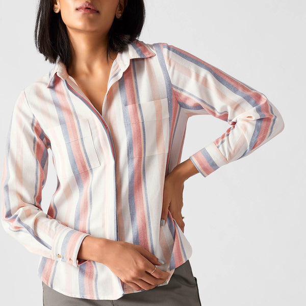Pastel Stripe Button Down Shirt
