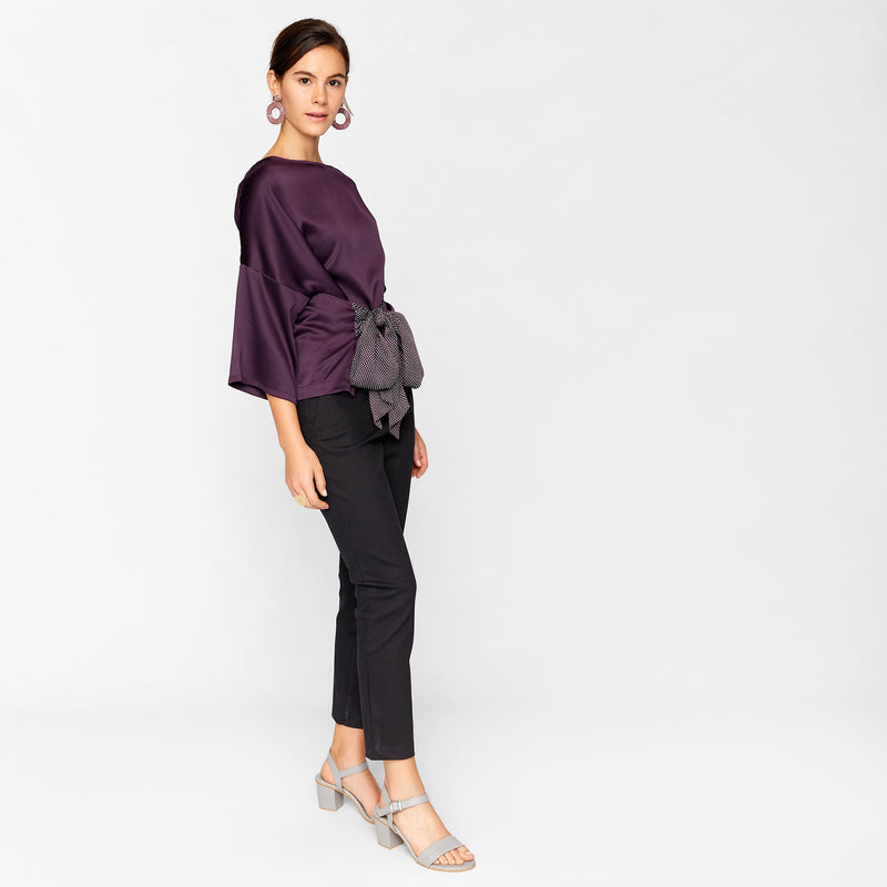 Plum & Polka Self Tie Top