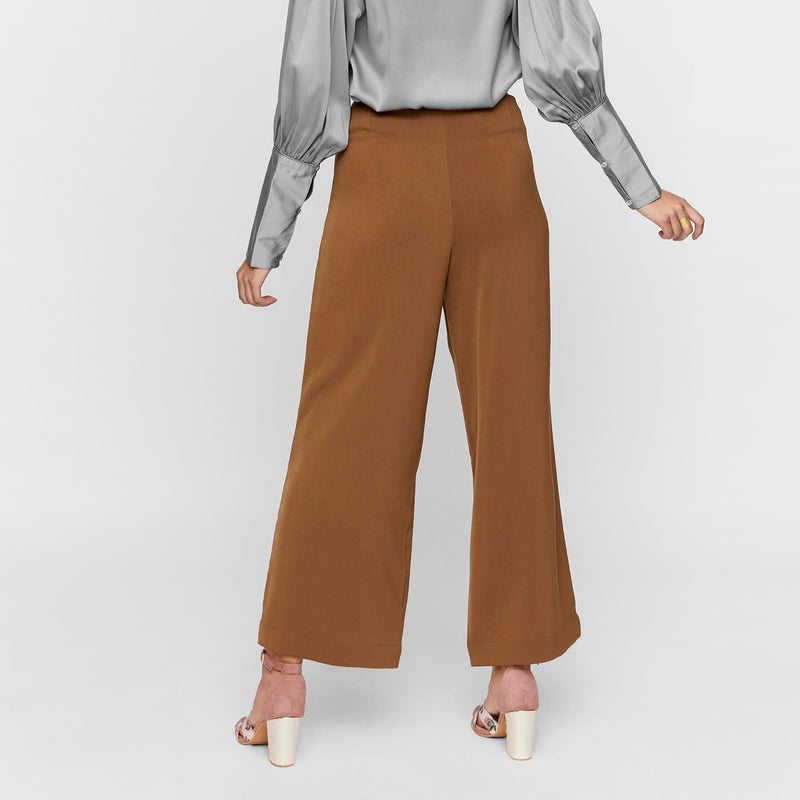 Walnut Overlay Buttoned Pants