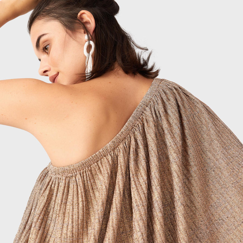 Rose Gold One Shoulder Top