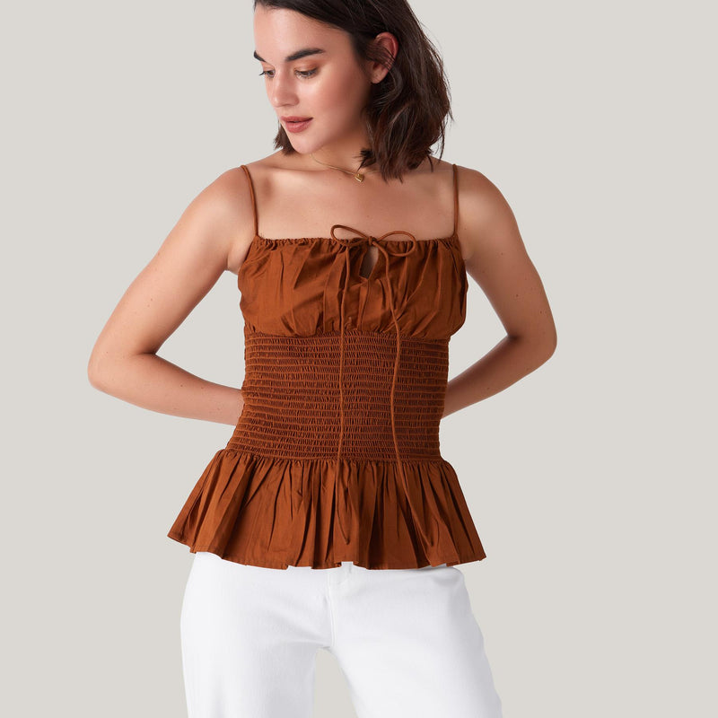 Rust Smocked Cami