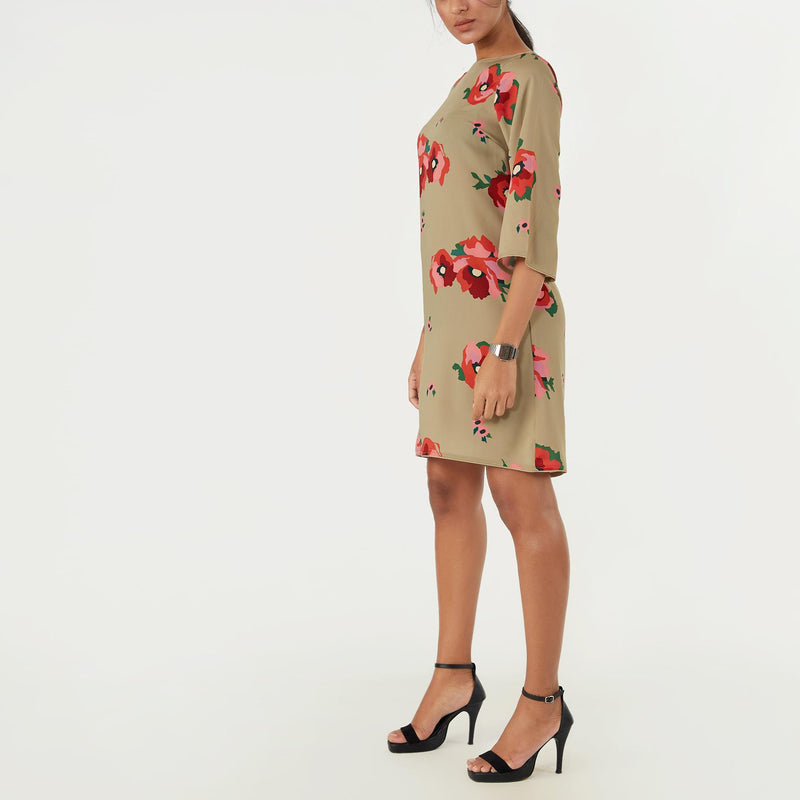 Sage Bloom Shift Dress