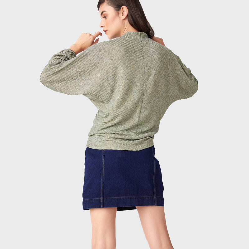 Sage Dolman Sleeve Top