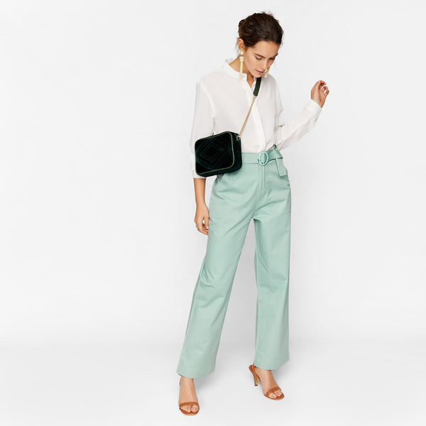 Sage O Buckle Belt Pants
