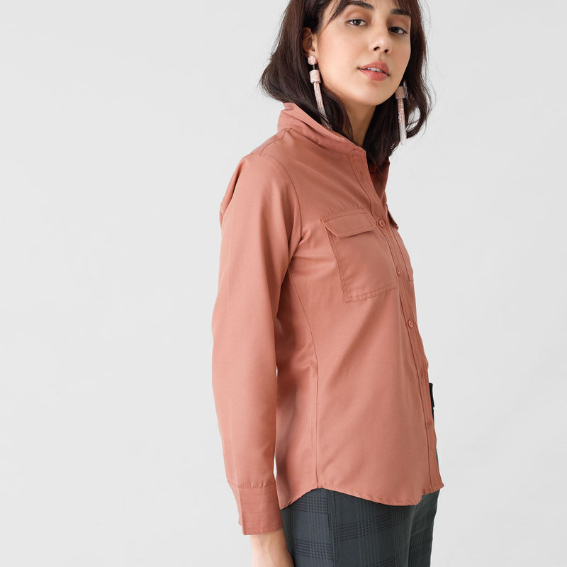 Salmon Button Down Shirt