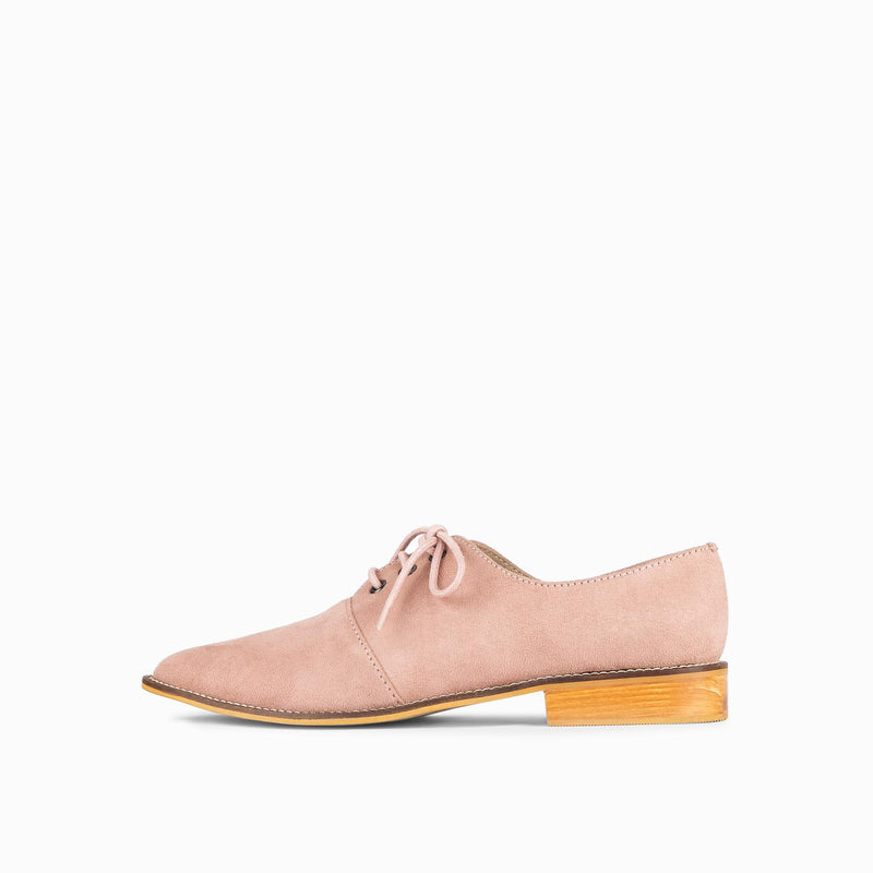 Salmon Suede Pointed Brogues