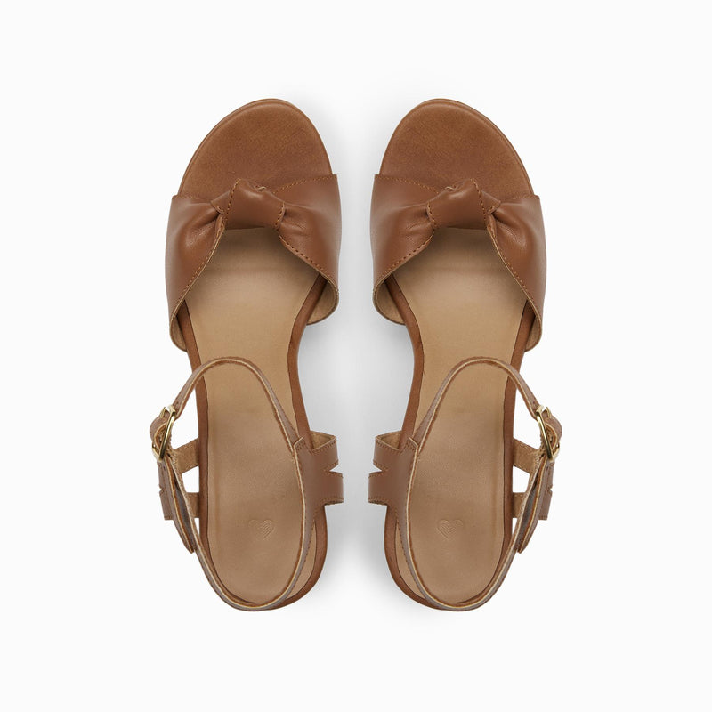 Tan Knotted Wedges
