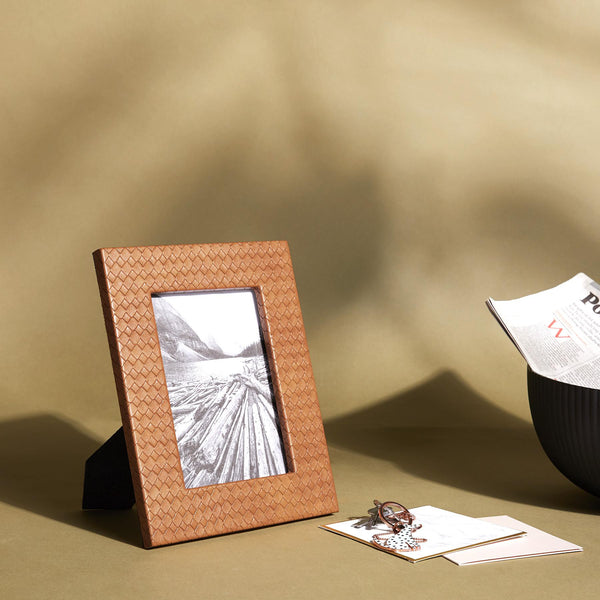 Tan Textured Photo Frame Medium