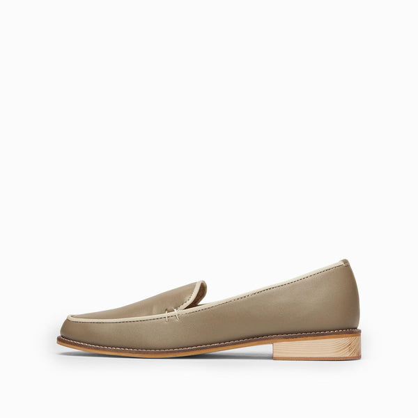 Taupe & Ivory Loafers