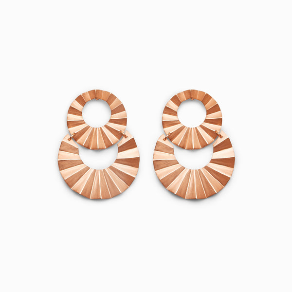 Rose Gold Matte Textured Earrings