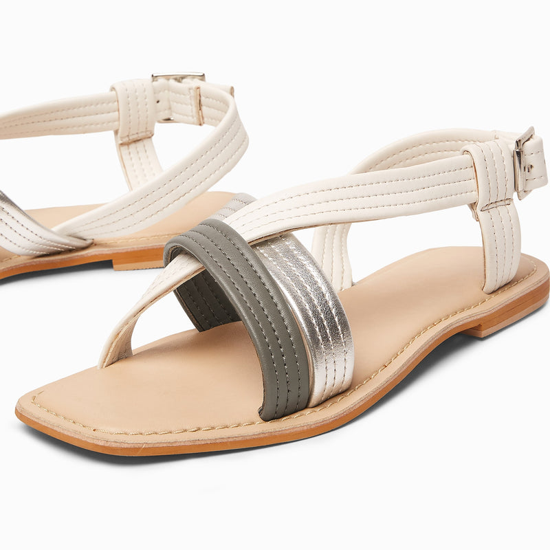 Colour Block Strap Sandals
