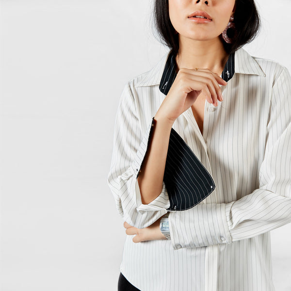White Pinstripe Shirt