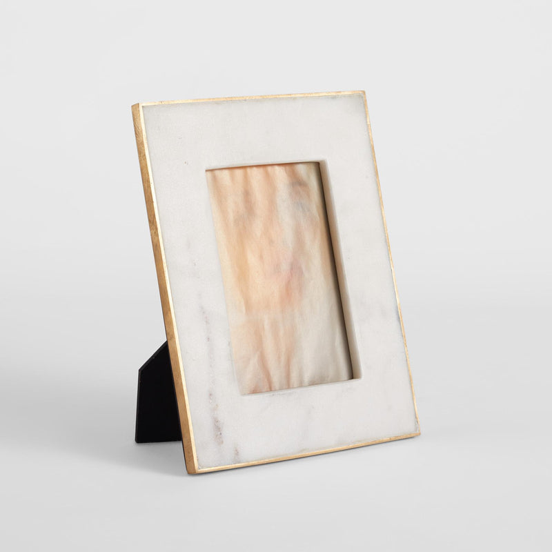 White & Gold Marble Photo Frame
