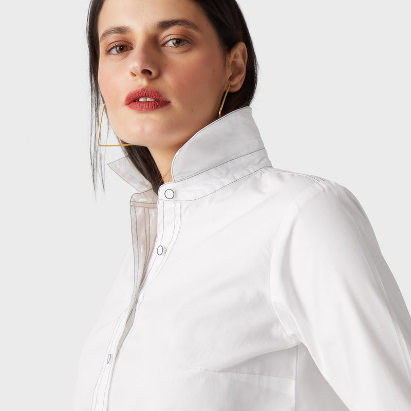 White Top Stitch Shirt