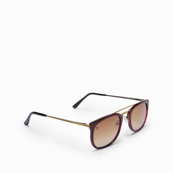Wine Square Bridge Sunglasses