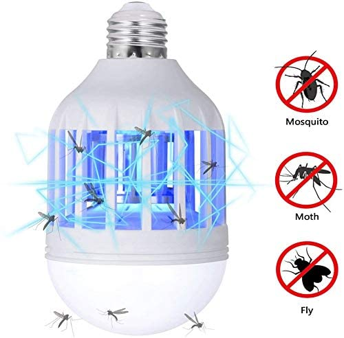 GLOUE™ Bug Zapper Light Bulb, 2 in 1 Mosquito Killer Lamp UV Led Electronic Insect & Fly Killer