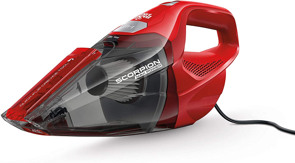 Dirt Scorpion™ Handheld Vacuum Cleaner-Corded, Small Carpet Cleaner (Red)