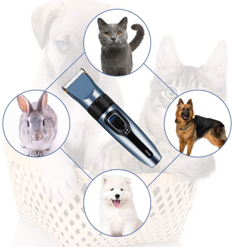 PawFull™ 12-IN-1 Cordless Rechargeable Dog Cat Grooming Clippers with Pet Grooming Kit