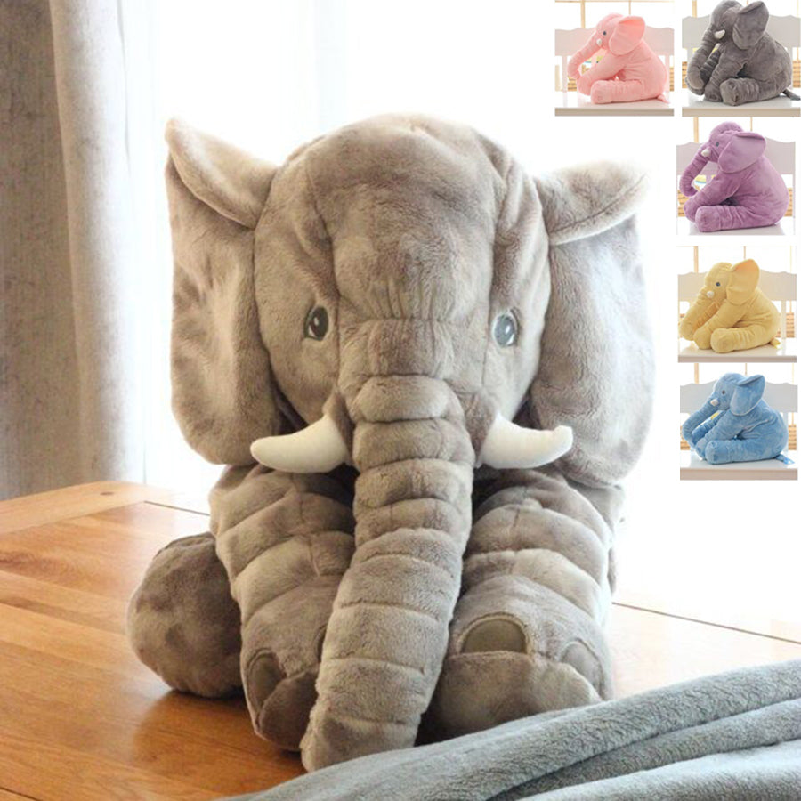 Fluffed™ Giant Elephant Plush Toy Baby Pillow