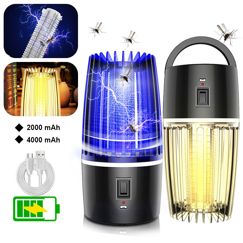 2 in 1 Mosquito Killer Lamp USB Rechargeable LED Electric Inset Bug Zapper Killer UV Light Shock Mosquito Trap Killer Lamps