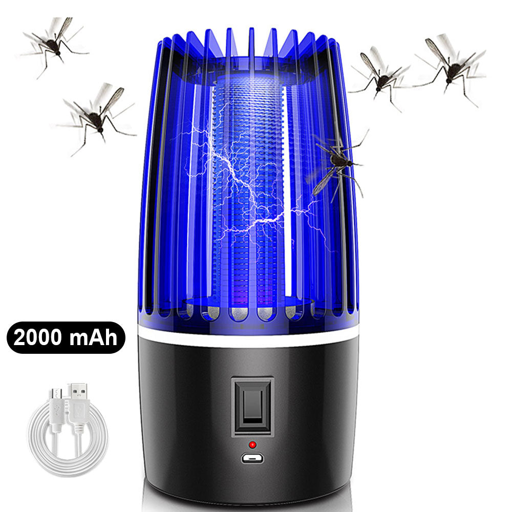 Eshock™ 2 in 1 Rechargeable Mosquito Killer Lamp-LED Electric Inset Bug Zapper Killer Light