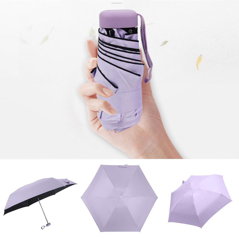 Pocket Mini Umbrella Rain Women Windproof Durable 5 Folding Sun Umbrellas Portable Sunscreen Female Parasol Umbrella