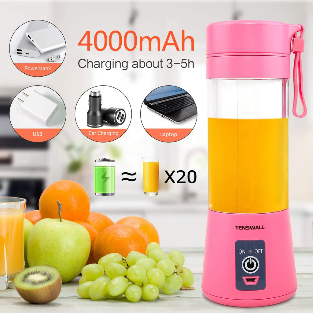 Tenswall™ Portable Smoothies Rechargeable Blender Bottle- USB Mini Juicer Cup