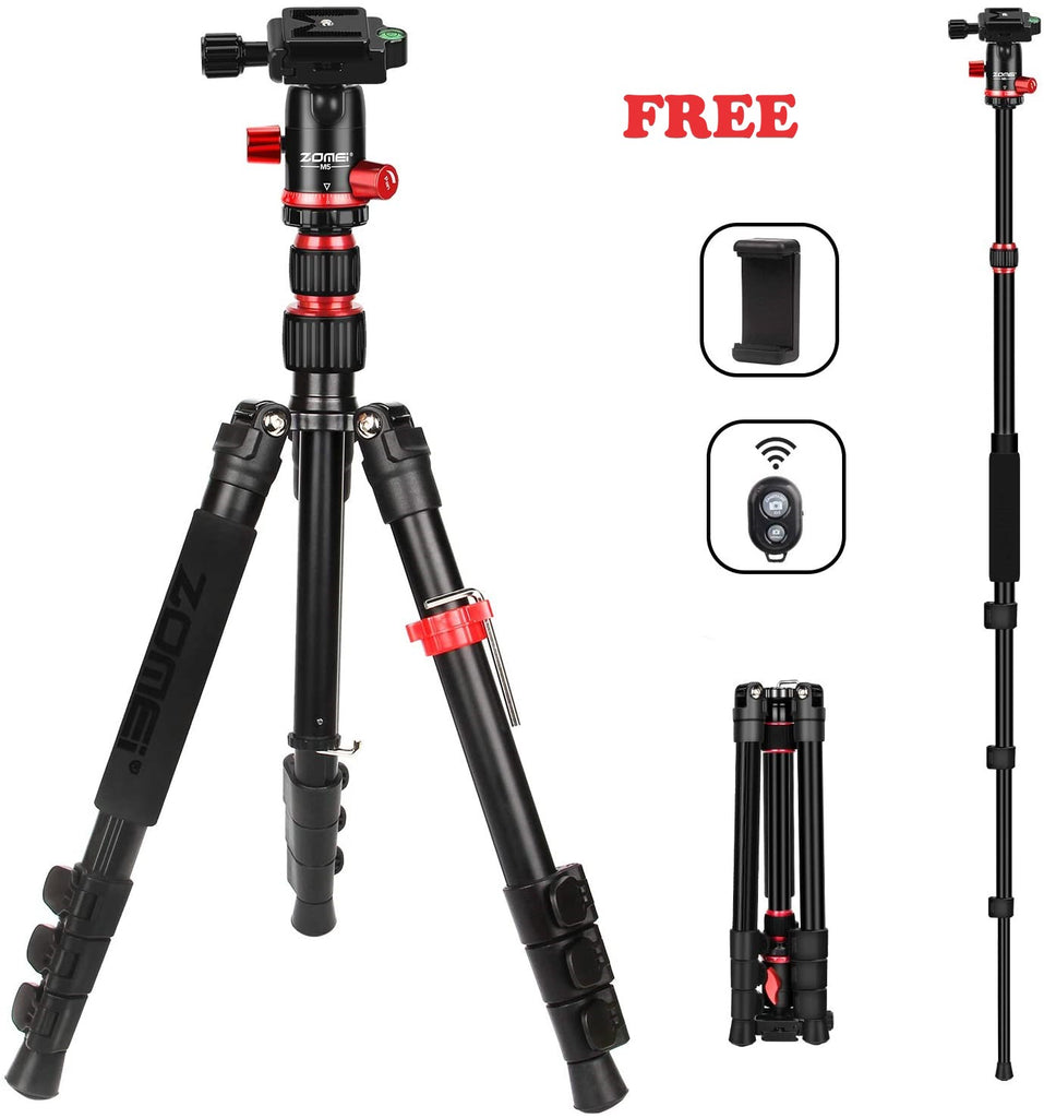Zomei™ 2 IN 1 Lightweight Travel Tripod For Camera-Gorillapod and Flexible Tripod Plus Free Gift