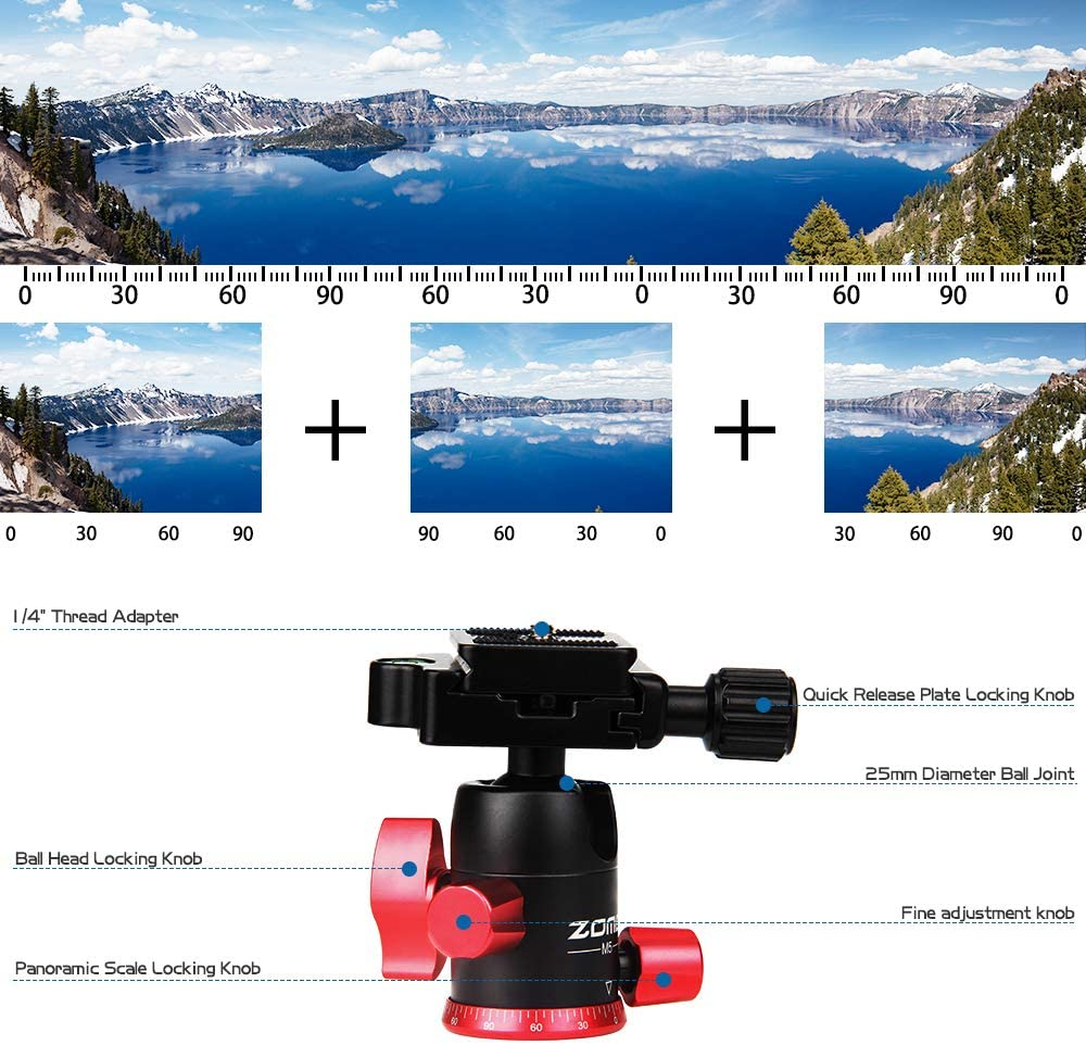 Zomei™ 2 IN 1 Best Buy Travel Tripod For Camera-Gorillapod and Flexible Tripod With Remote Bluetooth and Phone Clip