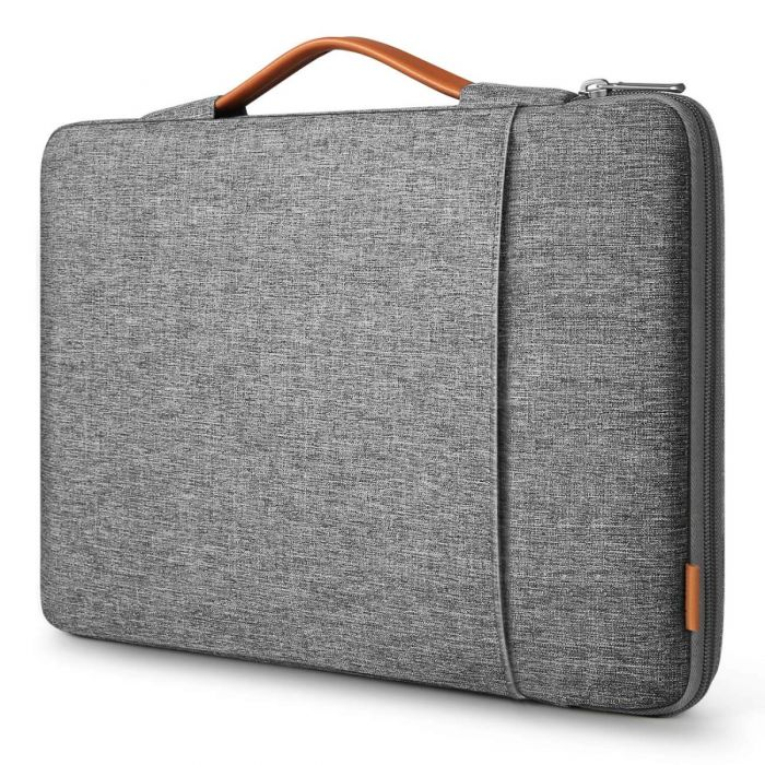 13-13,3 Zoll 360° Rundumschutz Laptop Tasche Hülle Aktentasche Kompatibel mit MacBook Pro, MacBook Air, Surface Pro LB02006, Grau - Inateck