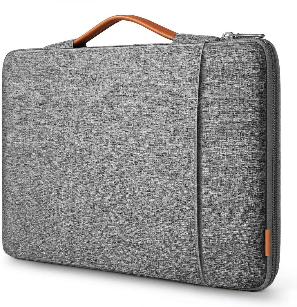 Inateck Laptoptasche Hülle Kompatibel 16 Zoll MacBook Pro 2019/15 Zoll Surface Book 2/XPS 15, Ultrabook Sleeve Case, 360° Schutz LB02006-15S, Grau