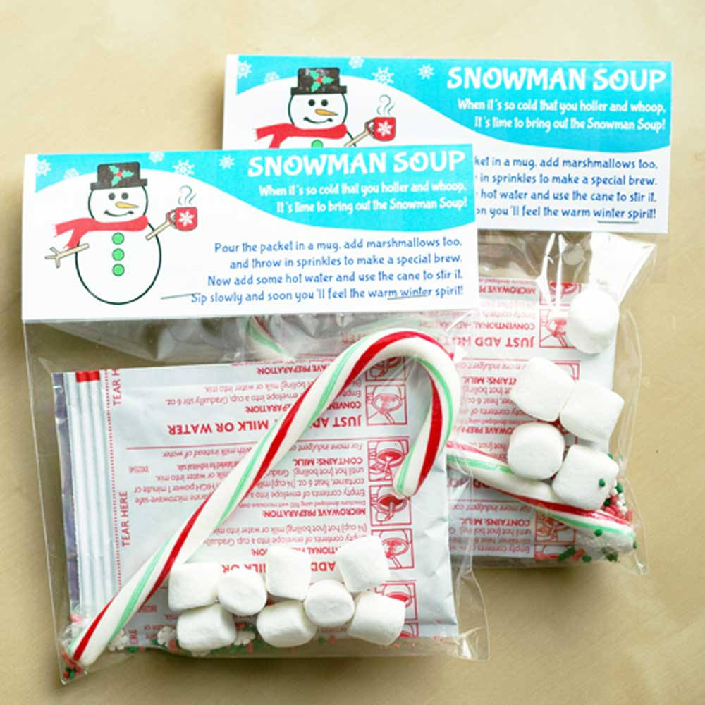 Snowman Soup Bag Topper Labels - Free Printable Download