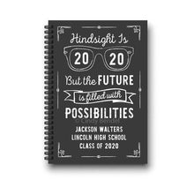 Load image into Gallery viewer, Hindsight is 2020 Graduation Notebook Guestbook