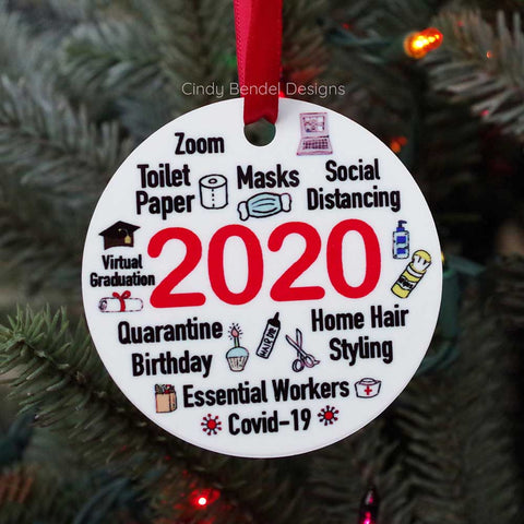 2020 Year In Review Christmas Holiday Ornament