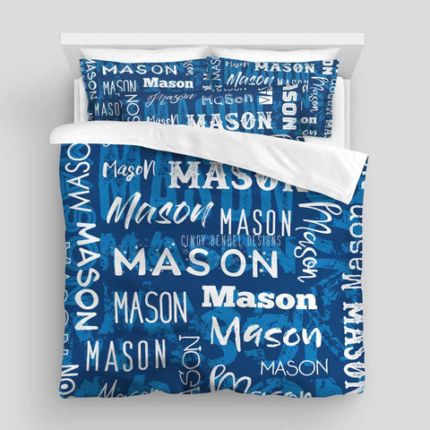 Personalized Name Bed Comforter or Duvet