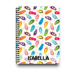 Beach Flip Flops Personalized Notebook