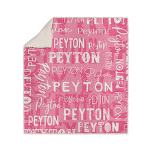 Load image into Gallery viewer, Personalized Name Blanket Pink Peyton