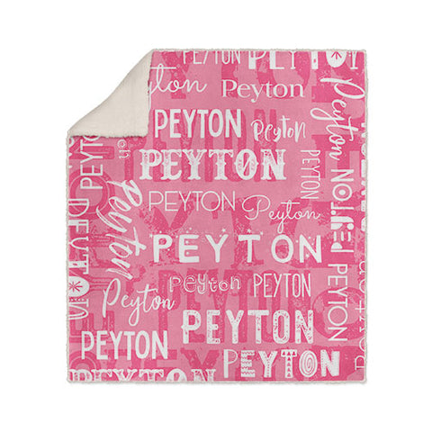 Personalized Name Blanket Pink Peyton