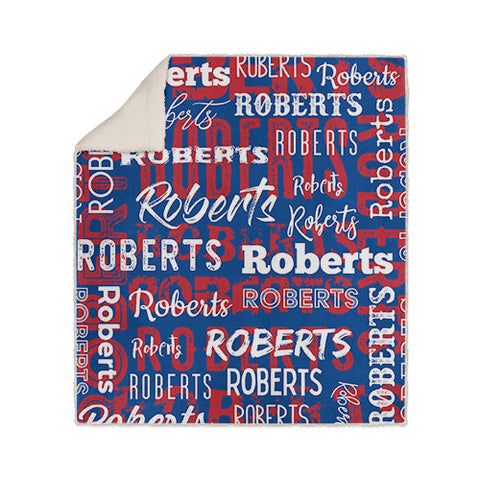 Personalized Name Blanket Red White and Blue Patriotic