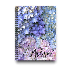 Personalized Hydrangea Flowers Notebook