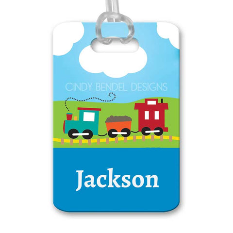 Personalized Kids Train Luggage Bag Tag