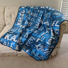 Load image into Gallery viewer, Premium Fleece Personalized Name Blanket