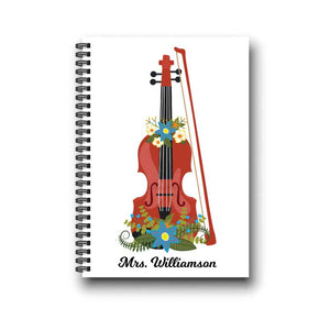 Violin Viola Music Orchestra Teacher Notebook Gift