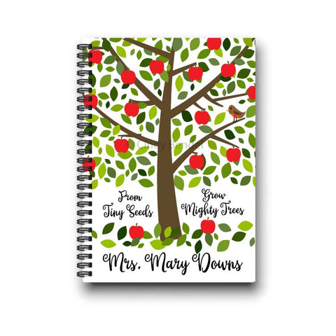 From Tiny Seeds Grow Mighty Trees Personalized Teacher Notebook